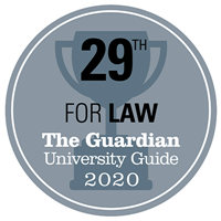 29th for Law - The Guardian University Guide 2020