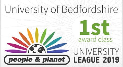 People and Planet 1st award class University League 2019